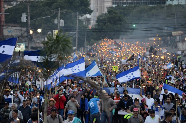 HONDURAS-CORRUPTION-PROTEST